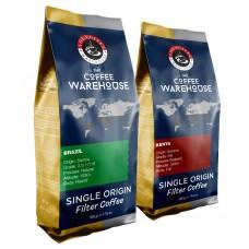Avantaj Paket (1 KG) Brezilya 500 g + Kenya 500 g Filtre Kahve (Haftalık Kavrum)