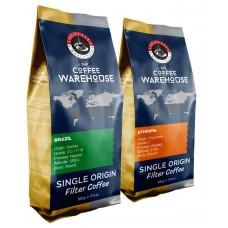 Avantaj Paket (1 KG) Brezilya 500 g + Etiyopya 500 g Filtre Kahve (Haftalık Kavrum)